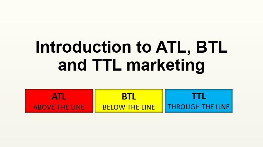 Introduction to ATL, BTL and TTL marketing