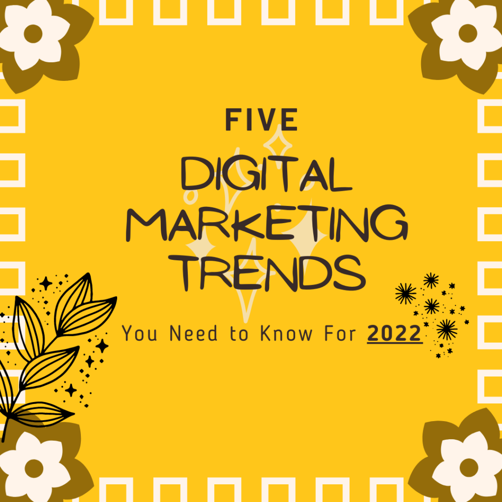 Five Digital Marketing Trends You Need to Know For 2022